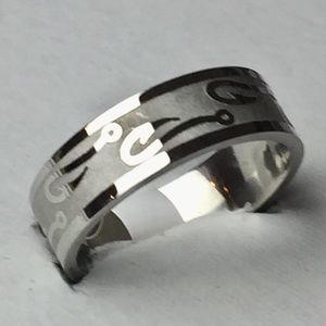Other - Sz 11 Stainless Steel Men's Ring With Fish Hook